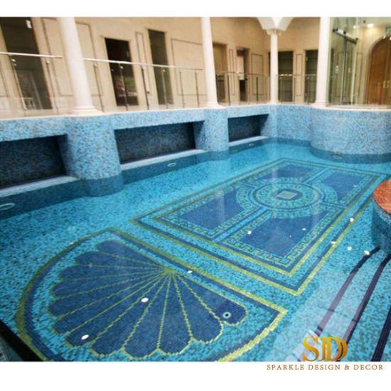 glass mosaic pool tile patterns
