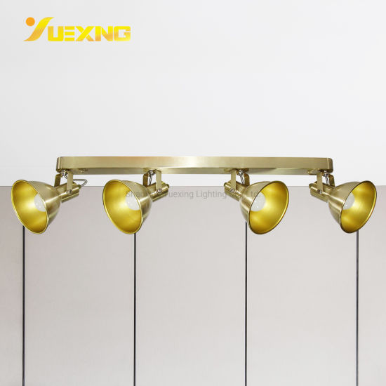 led e14 4 light track lighting golden spot wall ceiling mounted light fixture kitchen and dining room