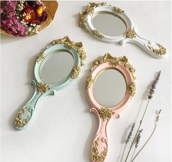 bow handle mirror princess mirror