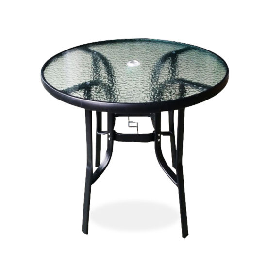 patio round glass top table outdoor