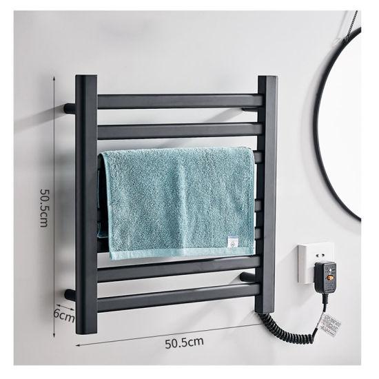 wall mounted towel warmer dryer rack for bathroom black stainless steel towel radiator electric heated towel rail