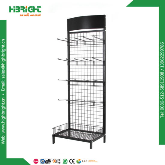 single side wire mesh display rack