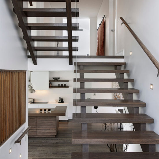 China Eco Friendly Prefinish Wood Straight Staircase Stair Tread | Prefinished Wood Stair Treads | Hickory | Risers | Natural Red | Red Oak Stair | Stair Nosing