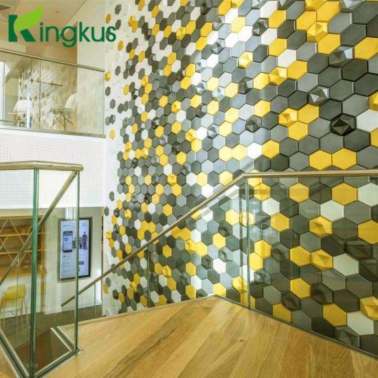 edgy 3d tile kaza polyester fiber acoustic panel wall board