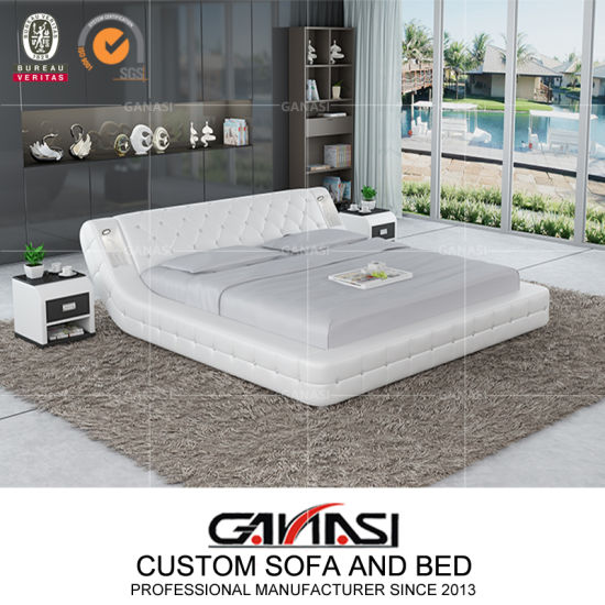 china modern design white color bed for