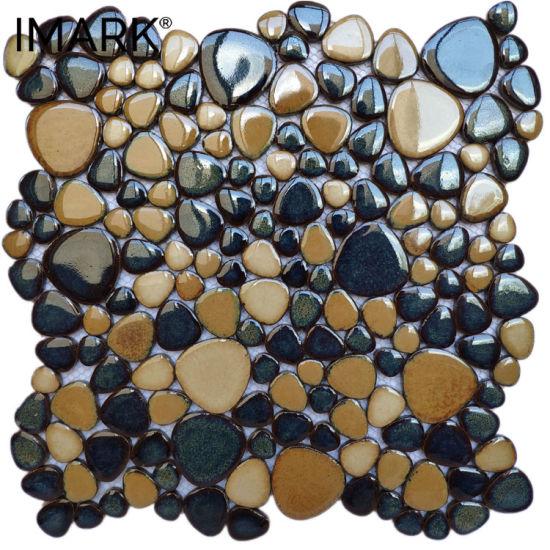 china polished pebble ceramic mosaic