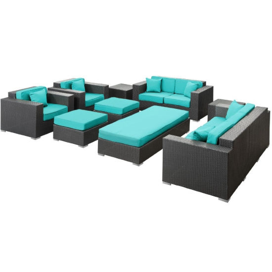 outdoor patio sofa 9pc ms 276 lowes