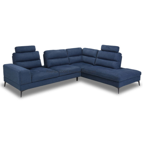 modern push back sofa with removable headrest fabric furniture 3090