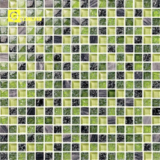 non slip bathroom blue green mosaic