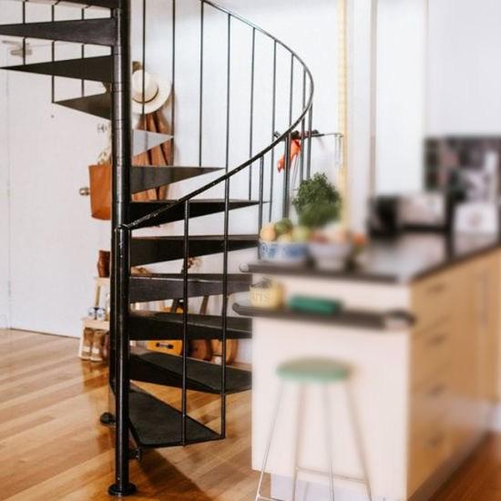 Modern Outdoor Steel Staircase Design Galvanized Spiral Staircase | Types Of Spiral Staircase | Divine | Elegant | Exterior | Free Standing | Aqua