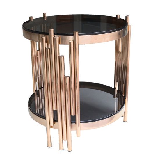 china small round rose gold stainless