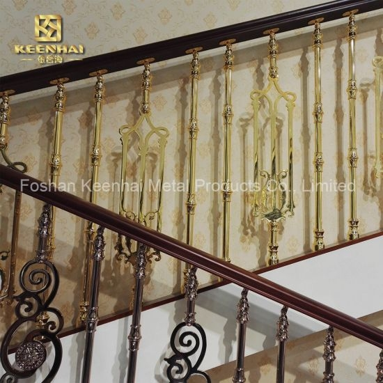 China Stainless Steel Stair Fence Golden Painting Decorative   Painted Handrails For Stairs   Modern   German Style   House   Pressure Treated   Before And After