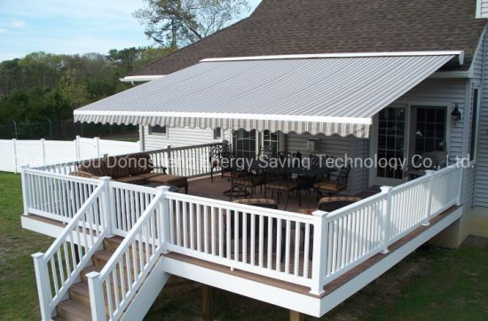 outdoor semi cassette motorized retractable patio awning