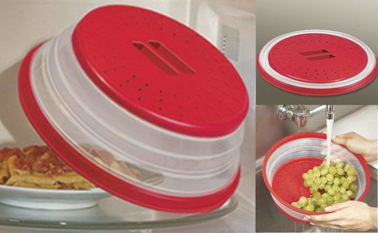 china collapsible microwave food cover