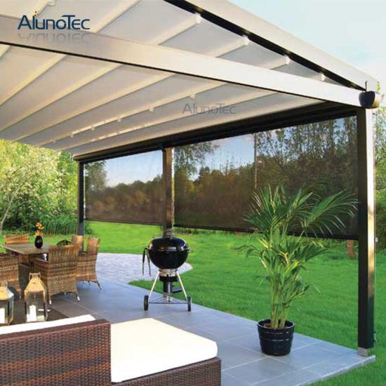 china automatic patio motorized screens