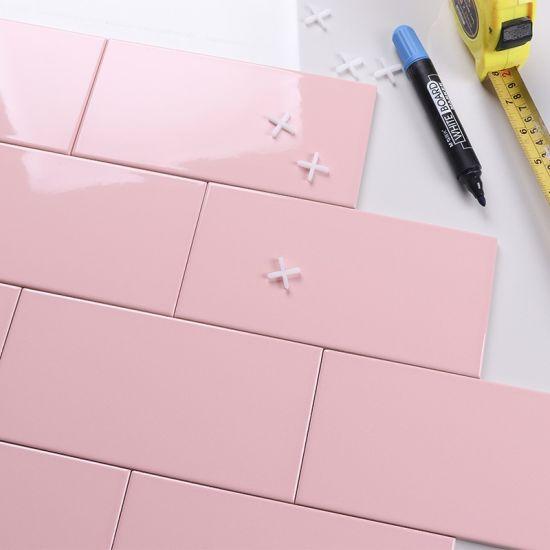 100x200mm pink color ceramic wall tile subway tile for interior design