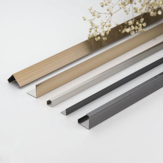 rose gold polished square shape stainless steel metal tile trim