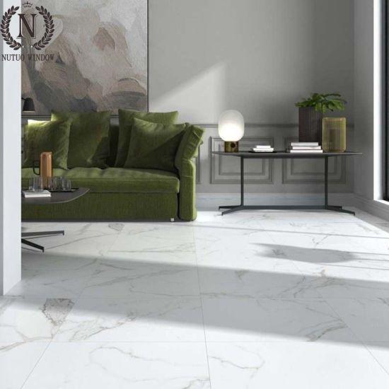gray polished tiles imitation marble finish porcelain tile