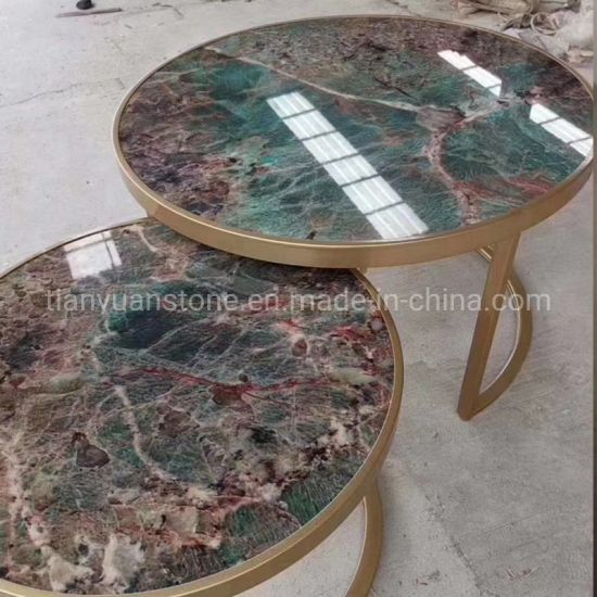 granite marble stone round coffee dining table for restaurant table furniture