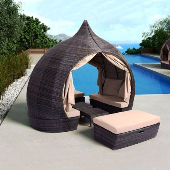 china outdoor patio round daybed with