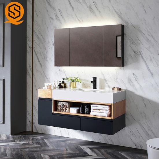 wall mounted marble bathroom vanity