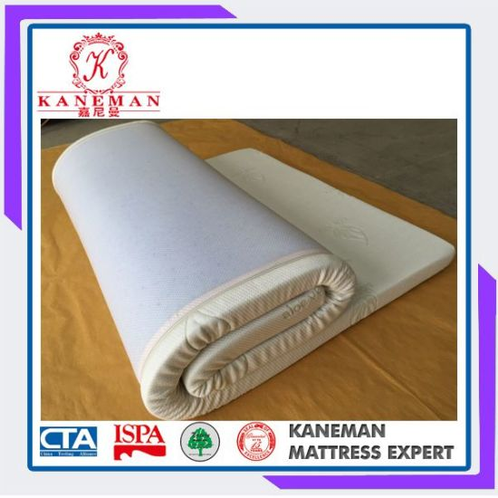 Good Sleep Well Thin Aloe Vera Memory Foam Mattress Topper Made In China