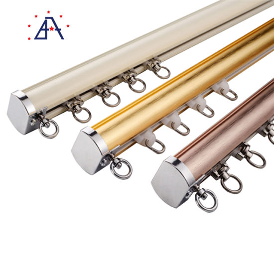 fashion design curtain pole aluminium metal roman curtains rod