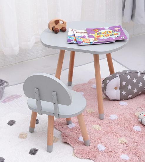 kindergarten small toddler kids table and chair set mushroom desk