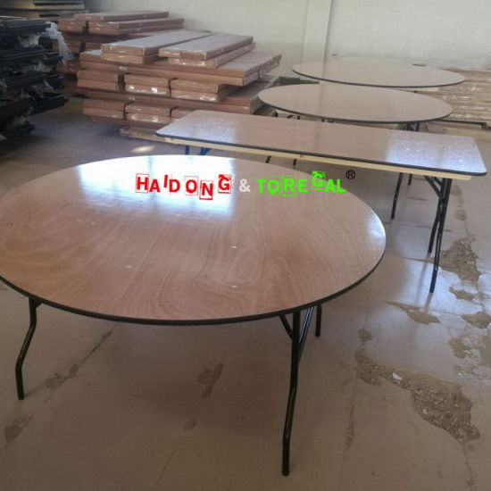 wood banquet table