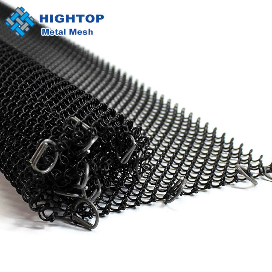 replacement chain link mesh hanging curtain rod kit for lowes fireplace black screen