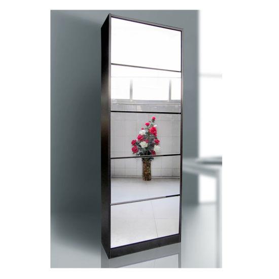 mirror shoe cabinet rack storage