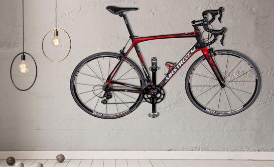 bike pedal hook bike rack garage wall