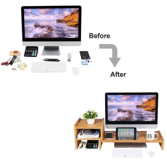 moniteur de bambou cellulaire meuble tv