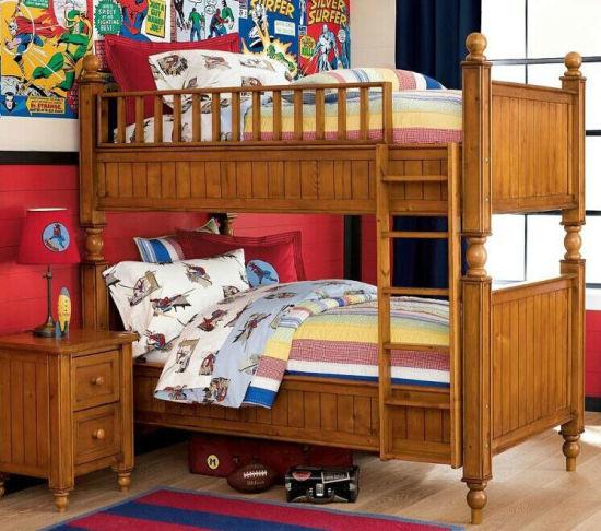 lits superposes en bois massif