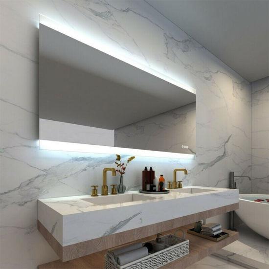 Chine Oem Salle De Bains Mur Miroir Lumineux Led Decoratif Miroir Eclaire Avec La Ce Rohs Acheter Salle De Bains Miroir Sur Fr Made In China Com