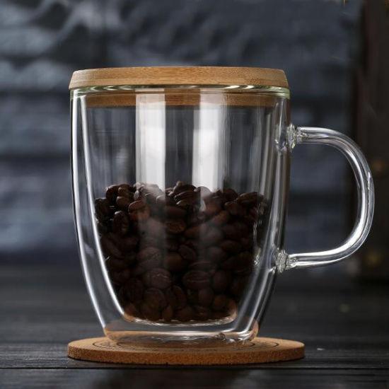tasse tasse en verre double paroi