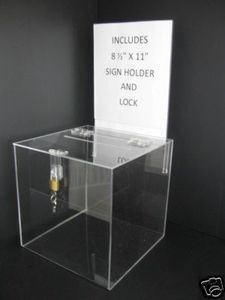acrylique transparent vote don