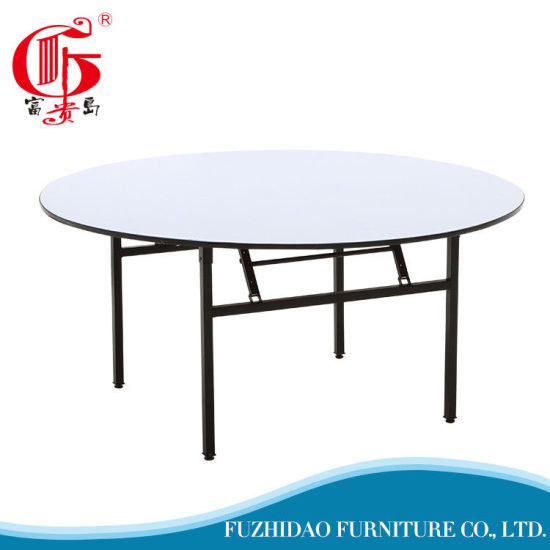 chine table ronde pliable pvc accueil