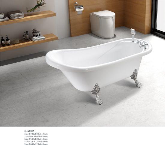 usine autoportant baignoire avec pied