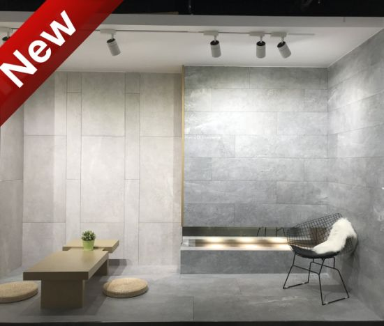 bains moderne gris clair plancher mur