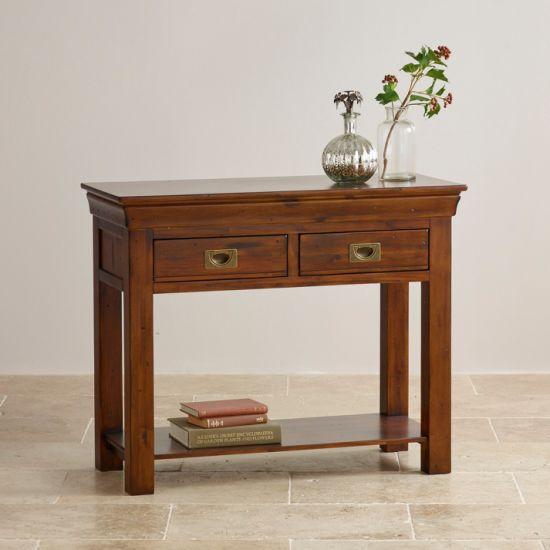 rustique en bois massif table console