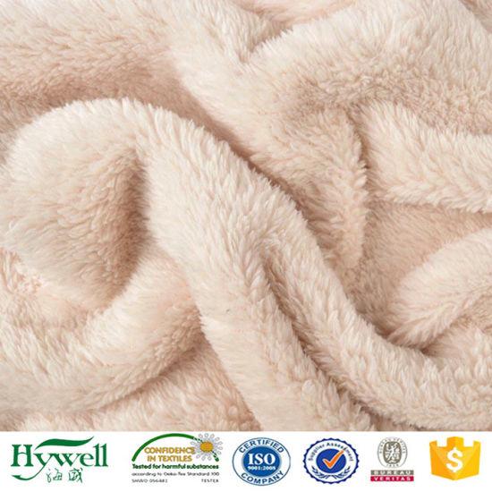 100 polyester tissu fausse fourrure