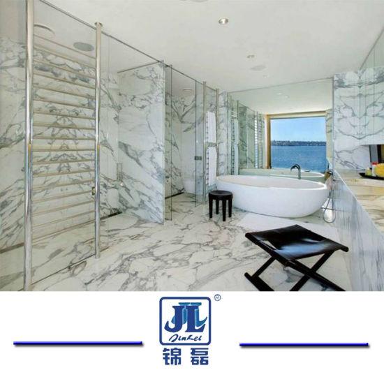sol en marbre blanc carreaux