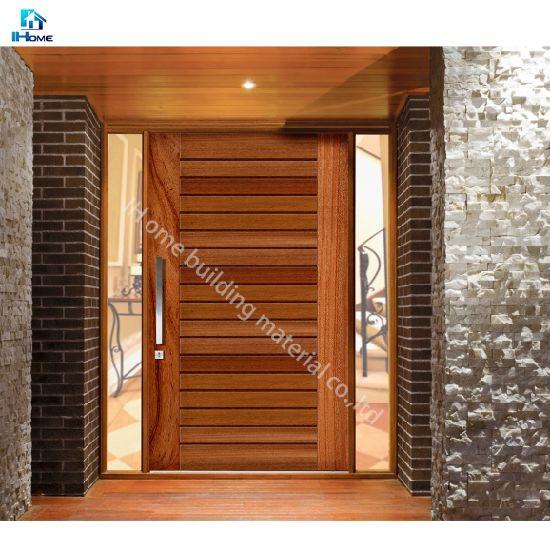 insert en verre en bois massif porte