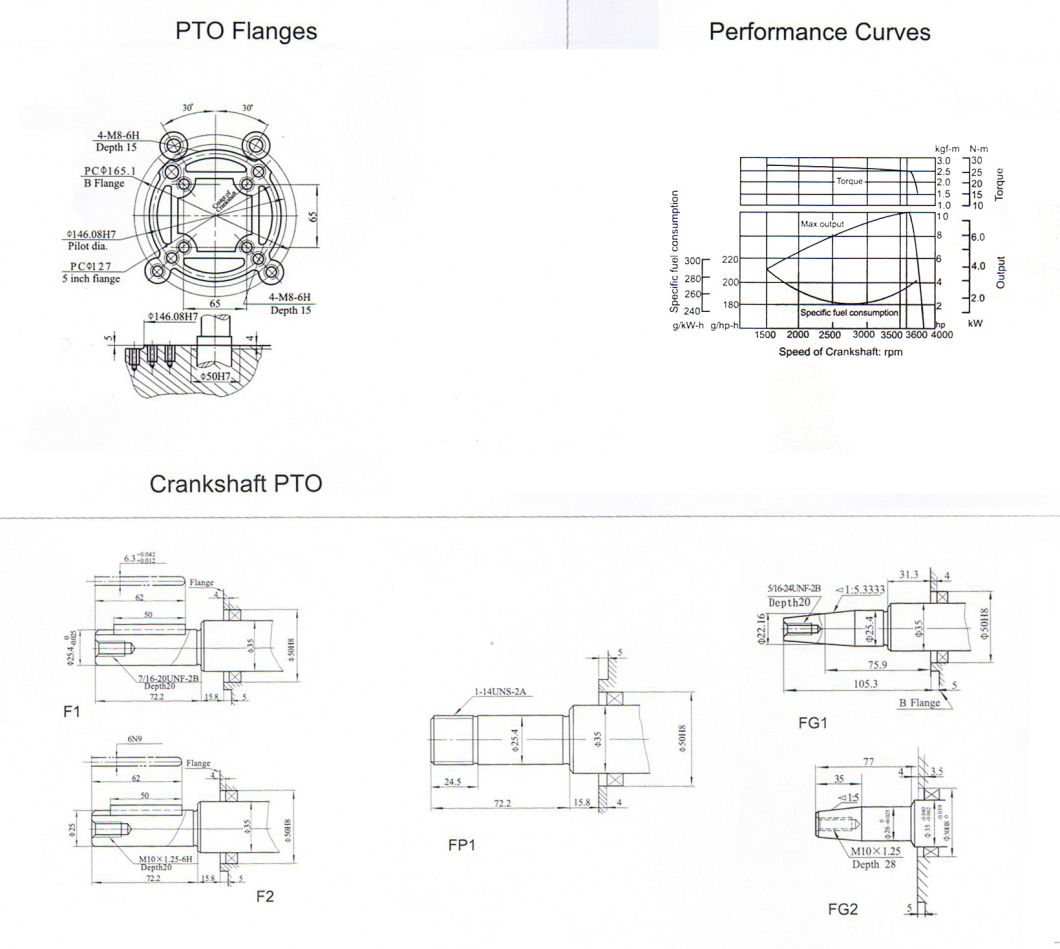 China 186fa Air Cooledsel Engine 10hp Small Engine