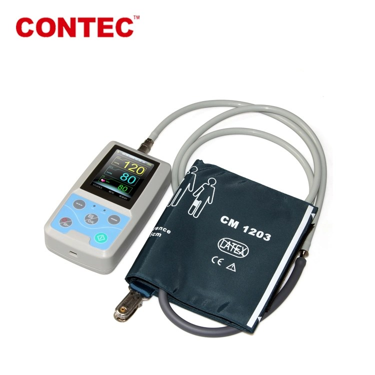 Contec Pm50 Hand-Held Pocket Blood Pressure Monitor NIBP/SpO2 Monitor TFT LCD Patient Monitor