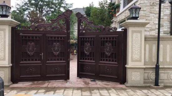 aluminio con doble puerta para patio