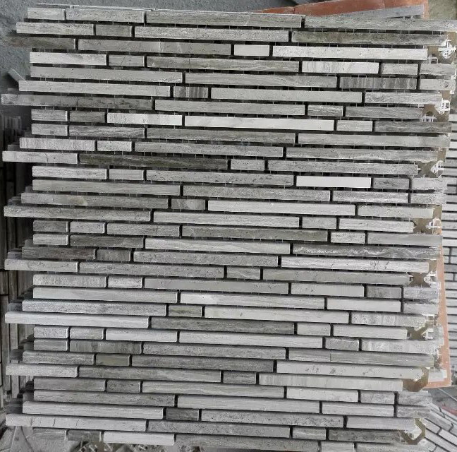 china linear mosaic tile gray marble