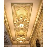 China Banruo Exquisite Michelangelo Style Ps Rectangular Ceiling Medallion For Chandeliers Photos Pictures Made In China Com