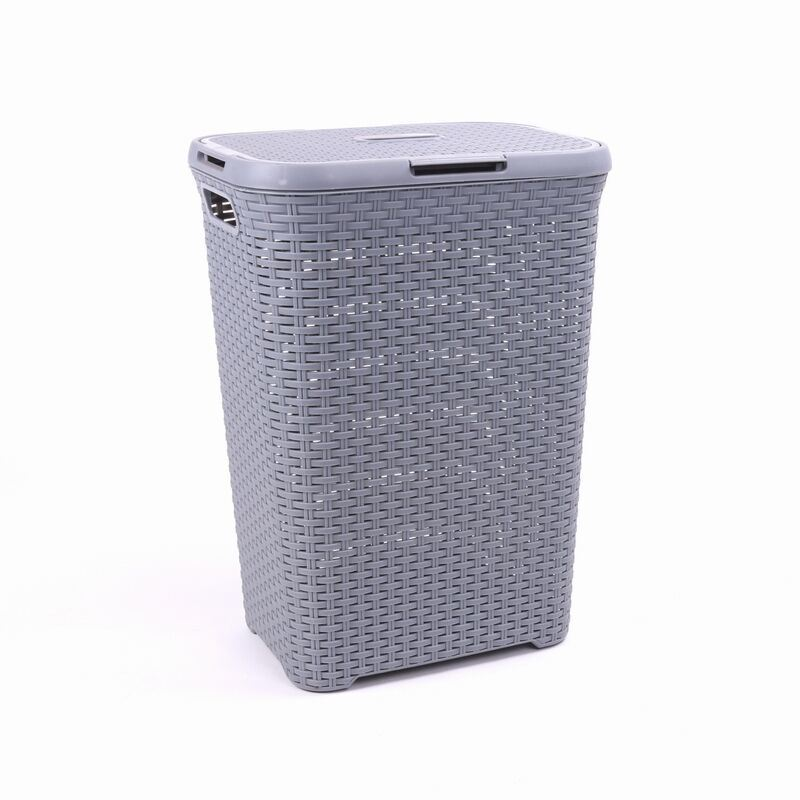 China 70l Lidded Hamper Plastic Elegant Laundry Basket Storage Bucket China Plastic Laundry Hamper And Laundry Basket Price